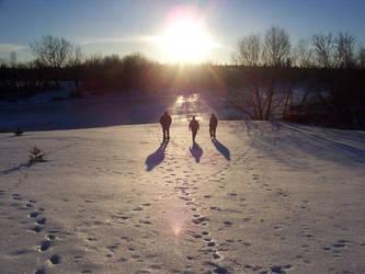 Walking into the sun by heystranger