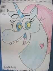 Pony Head from Star vs Forces Evil (fan art) by Krisa20030920