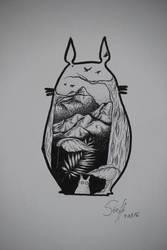 Totoro by pingpongpunk