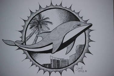 Miami Dolphins by pingpongpunk