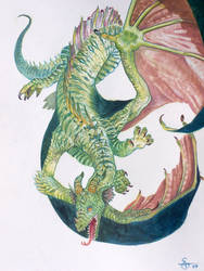 acrylic dragon by atomsanddust