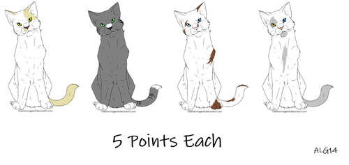 Cat Adoptables Batch 1 (OPEN) by Animelovinggirl14