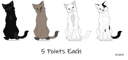 Cat Adoptables Batch 2 (OPEN) by Animelovinggirl14