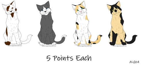Cat Adoptables Batch 3 (OPEN) by Animelovinggirl14