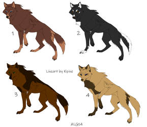 6 Point Wolf Adoptables Batch 2 (CLOSED) by Animelovinggirl14