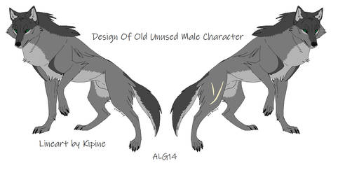 Unused Male Character Design Wolf Adopt (CLOSED) by Animelovinggirl14