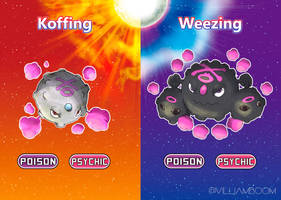 Koffing and Weezing in alola! by villi-c