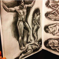 Figure Drawing in Sketchbook (1) by animaddict