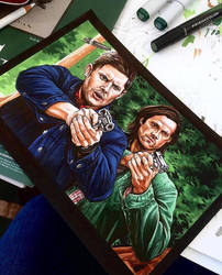 Supernatural (The Family Business) wip by animaddict