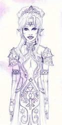 LoZ Queen Zelda by MewEllyAzura