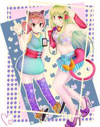 Colorful Fangirls by Yeti-Echoer