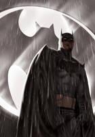 Batman Black and Grey by OzWonderland