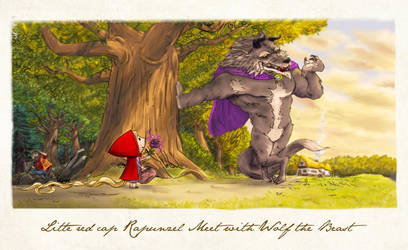 Little Red Riding Hood and The Beast by DodiZigi