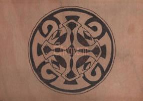 Wooden Celtic Cross by Envorenn