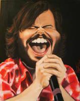 Jack Black caricature by drawmyface