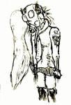 Miku Gazmask Zombie by Loupyboy