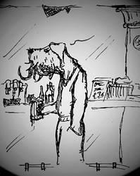 Cthulhu anthropomorph dog by Loupyboy
