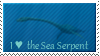 I Love the Sea Serpent Stamp by MistressDragoness