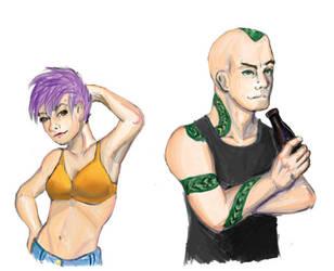 DitF characters - Ike and El by Syke-ko