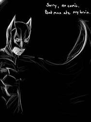 Batman ate my brain by Syke-ko