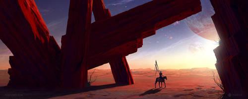Red Rocks by YurevArt