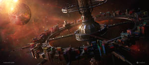 Cybernation - Space station by YurevArt