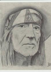 Willie Nelson Portrait sketch by Nicholashelms111