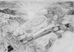 Titan Vs. Outpost by Kalgoras