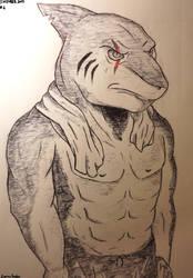 Inktober #6 - Shark by EapingEagle
