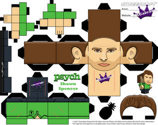 Cubeecraft of Shawn Spencer from Psych template by SKGaleana