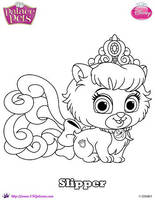 Palace Pet Slipper coloring Page SKGaleana by SKGaleana