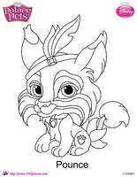 Princess Palace Pet Pounce coloring Page by SKGaleana