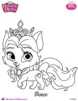 Princess Palace Pet Rouge coloring Page by SKGaleana