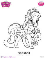 Princess Palace Pet Seashell coloring Page by SKGaleana