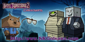 Hotel Transylvania 2 Monster Cubeecraft by SKGaleana