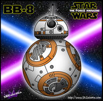 BB-8 from Star Wars The Force Awakens by SKGaleana
