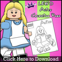 Lego Alice Coloring Page by SKGaleana by SKGaleana