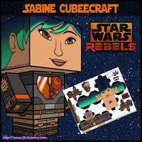 Star Wars Rebels Sabine cubeecraft by SKGaleana