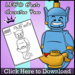 Lego Genie Coloring Page by SKGaleana by SKGaleana