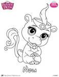 Nola Princess Palace Pet Coloring Page SKGaleana by SKGaleana