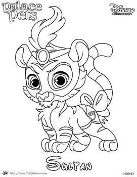 Sultan Princess Palace Pet Coloring Page SKGaleana by SKGaleana
