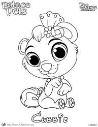 Coloring Page of Cubbie from Princess Palace Pets by SKGaleana