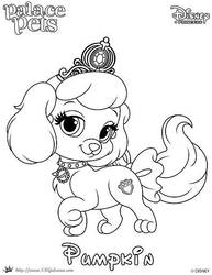 Pumpkin Princess Palace Pet Coloring Page by SKGaleana