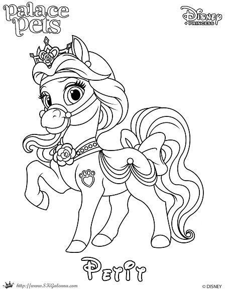 Petit Princess Palace Pet Coloring Page SKGaleana  by SKGaleana