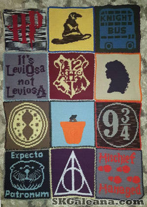 Harry Potter Crochet Blanket Pattern by SKGaleana by SKGaleana