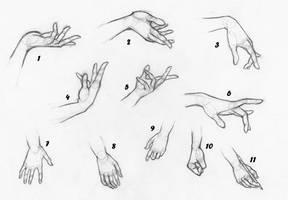 Hands Study by MelaDiMiele
