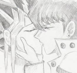 LilHammyGrl: Seto kissed Yami by ygoyaoi