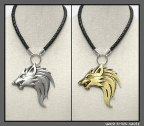 My Huge Original Werewolf Design Necklace V.6 by GoodSpiritWolf