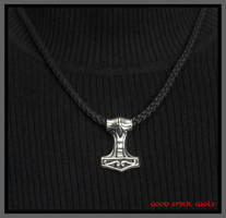 All Weather Mjolnir Thor's Hammer and Necklace by GoodSpiritWolf