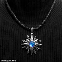 Earth The Blue Water Planet Pendant Necklace V1 by GoodSpiritWolf